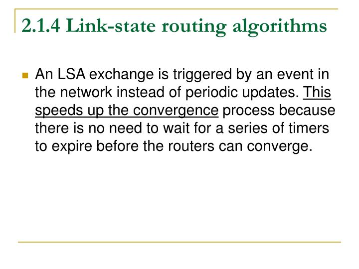 2.1.4 Link-state routing algorithms