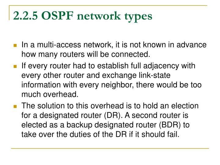 2.2.5 OSPF network types