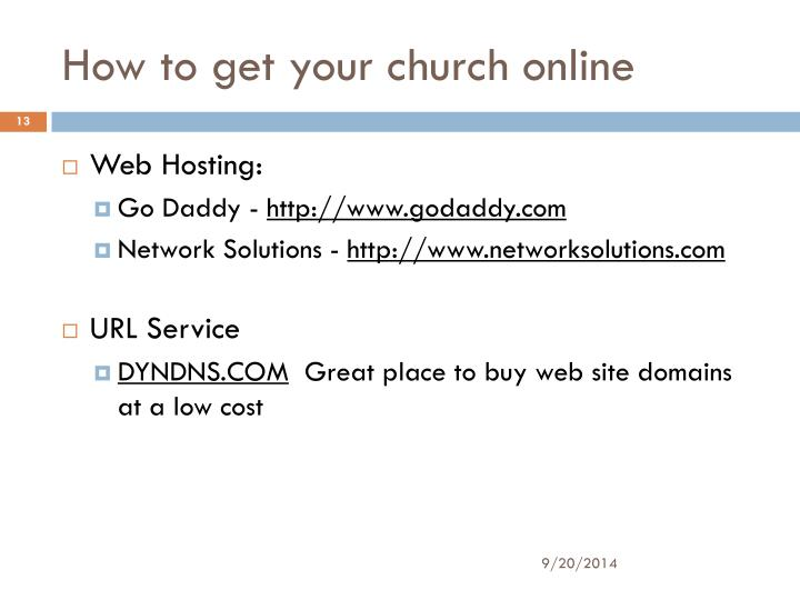 How to get your church online