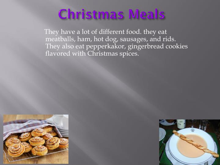 Christmas Meals