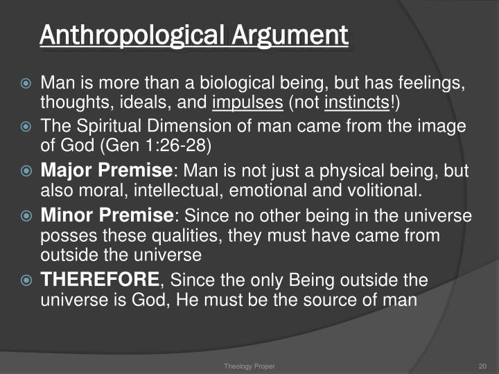 Anthropological Argument