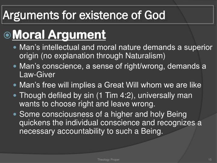 Arguments for existence of God