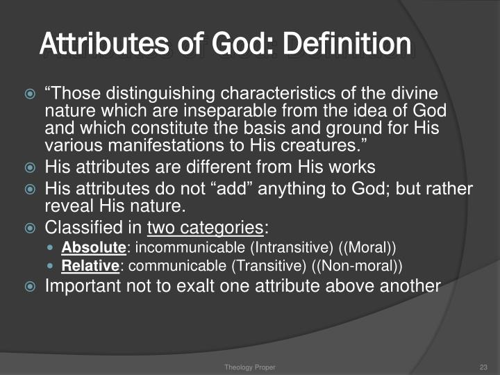 Attributes of God: Definition