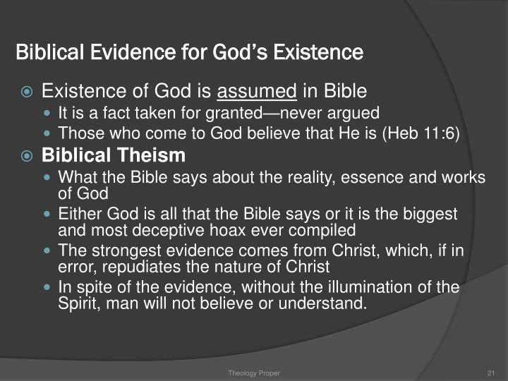 Biblical Evidence for God's Existence