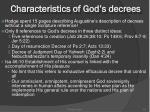 characteristics of god s decrees