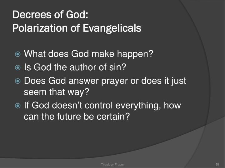 Decrees of God:
