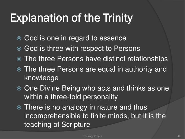 Explanation of the Trinity