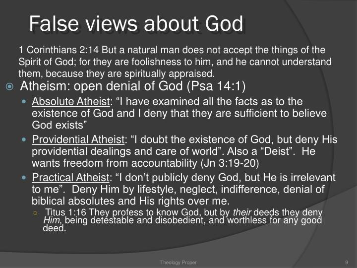 False views about God