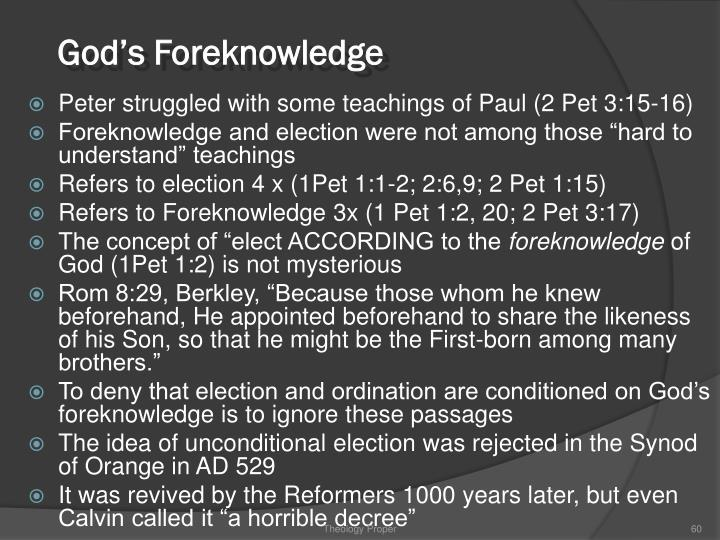 God's Foreknowledge