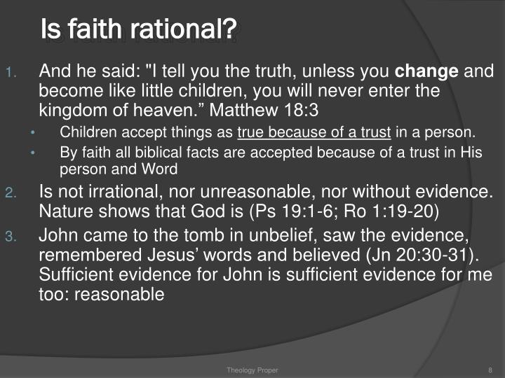 Is faith rational?