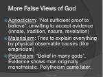 more false views of god