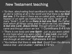 new testament teaching
