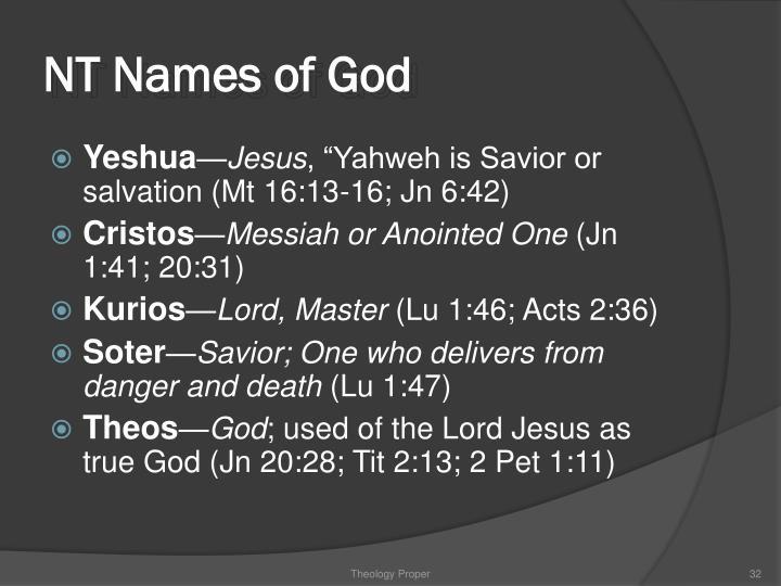 NT Names of God