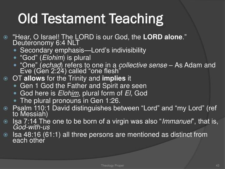 Old Testament Teaching