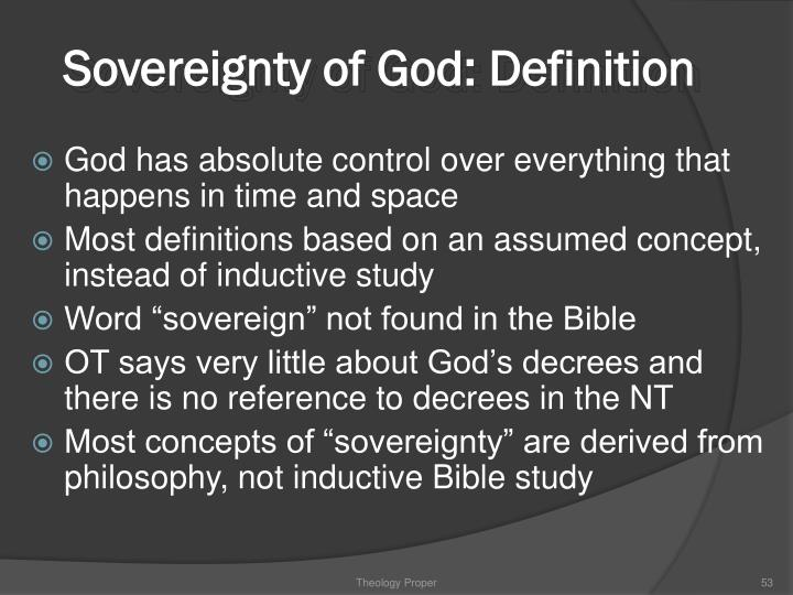 Sovereignty of God: Definition