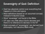 sovereignty of god definition