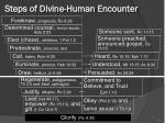 steps of divine human encounter