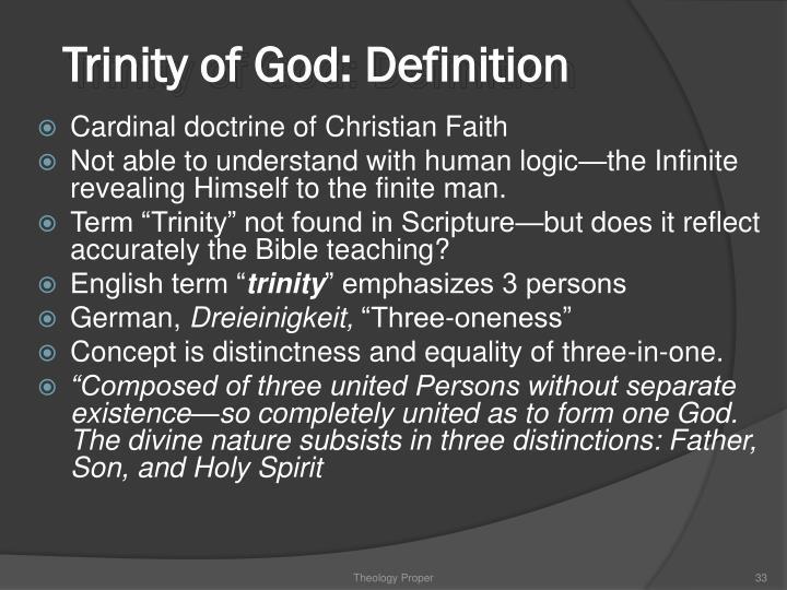 Trinity of God: Definition