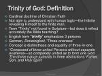 trinity of god definition