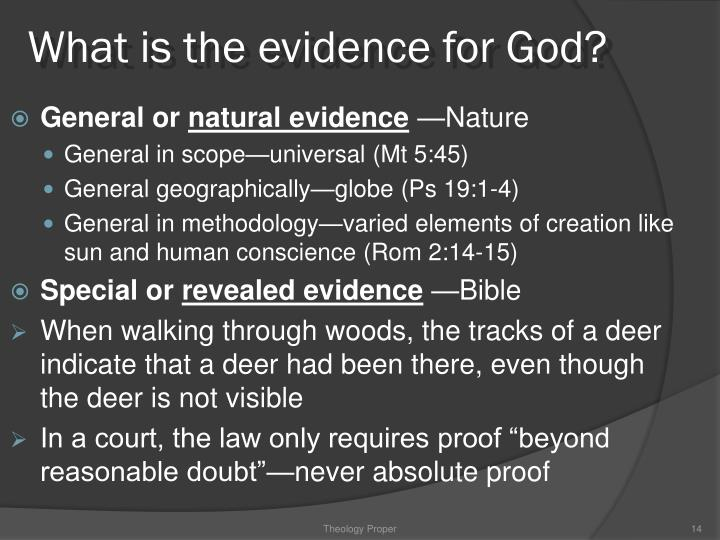 What is the evidence for God?
