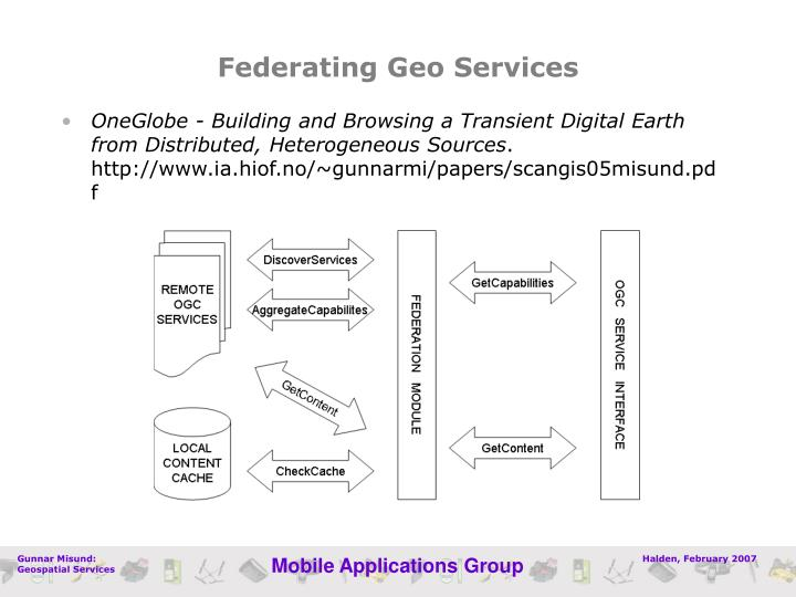 Federating Geo Services