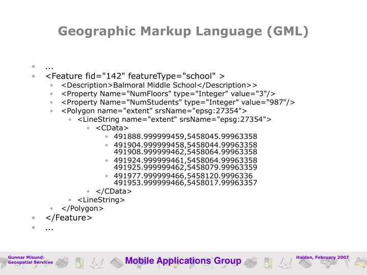 Geographic Markup Language (GML)