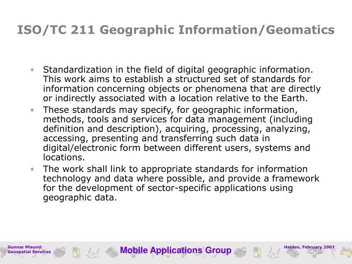 ISO/TC 211 Geographic Information/Geomatics