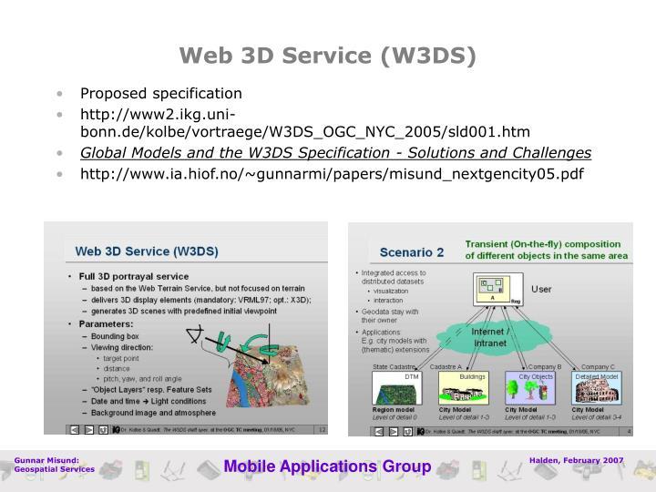 Web 3D Service (W3DS)
