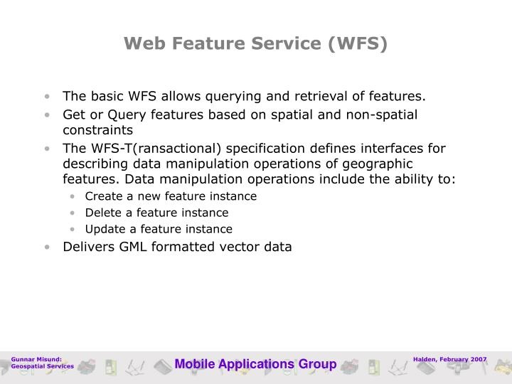 Web Feature Service (WFS)
