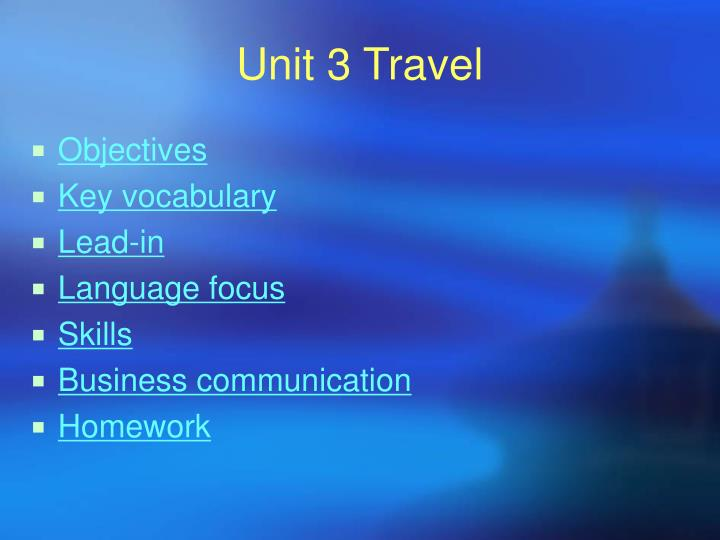 Unit 3 travel1