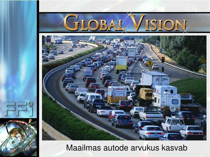 Maailmas autode arvukus kasvab