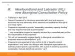 iii newfoundland and labrador nl new aboriginal consultation policy