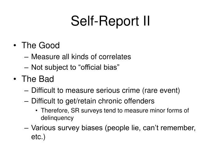 Self-Report II