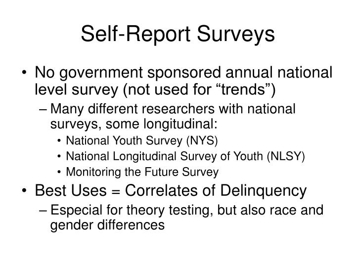 Self-Report Surveys