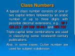 class numbers