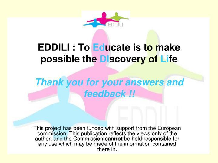 EDDILI : To
