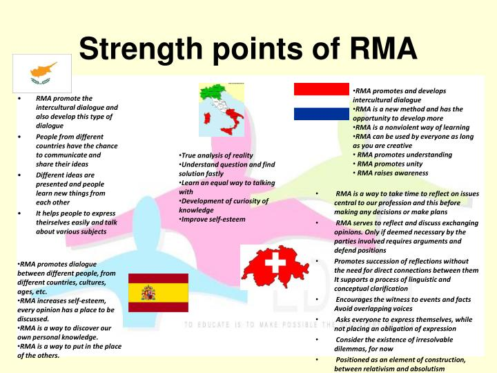 Strength points of RMA