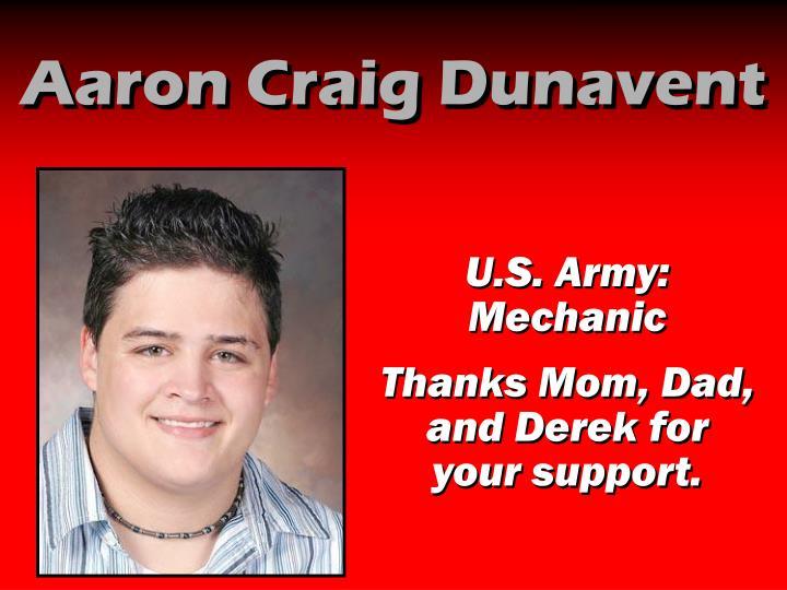 Aaron Craig Dunavent