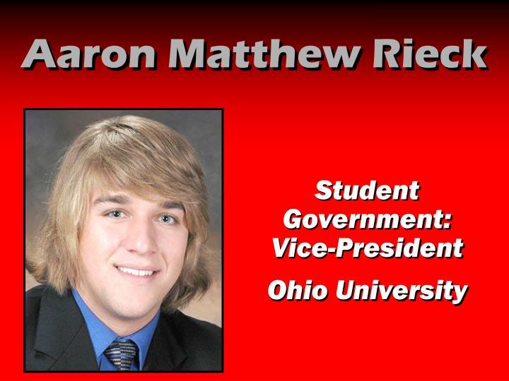 Aaron Matthew Rieck