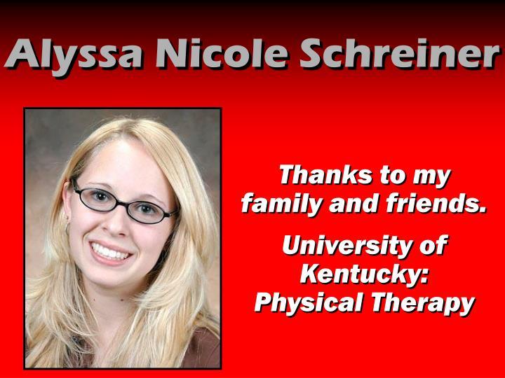 Alyssa Nicole Schreiner