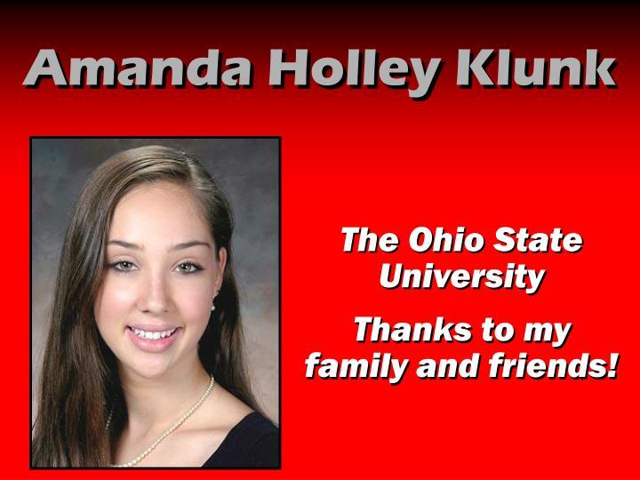 Amanda Holley Klunk