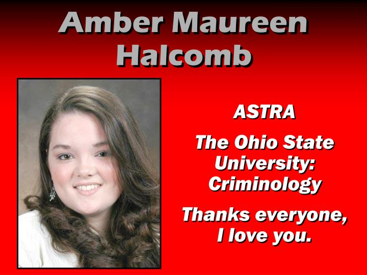 Amber Maureen Halcomb