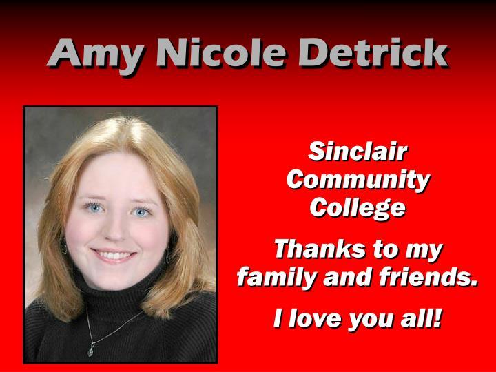 Amy Nicole Detrick