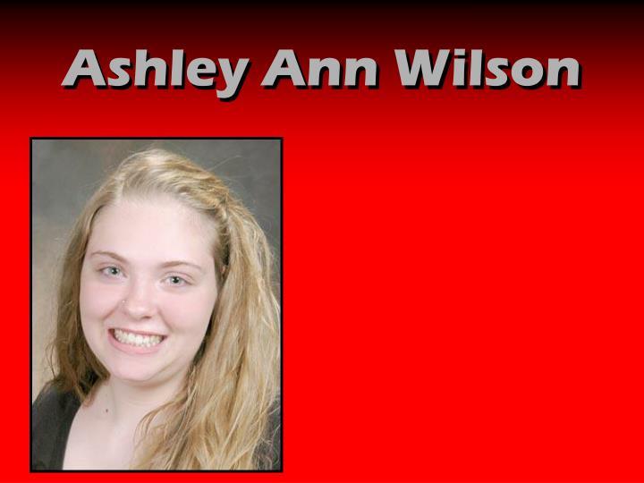 Ashley Ann Wilson