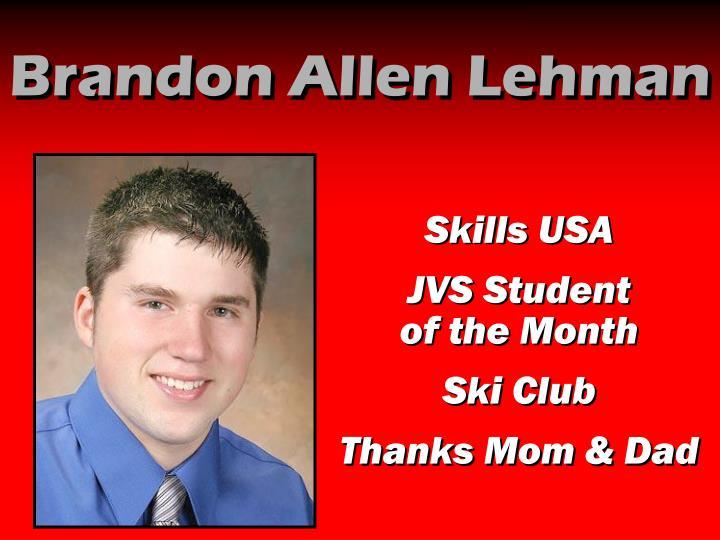 Brandon Allen Lehman