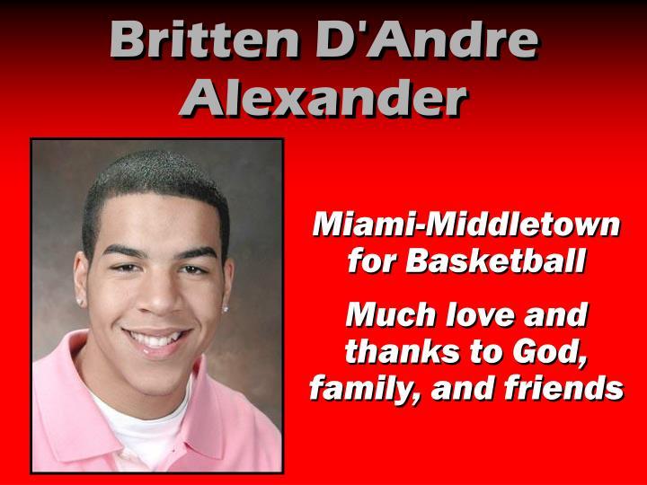 Britten D'Andre Alexander