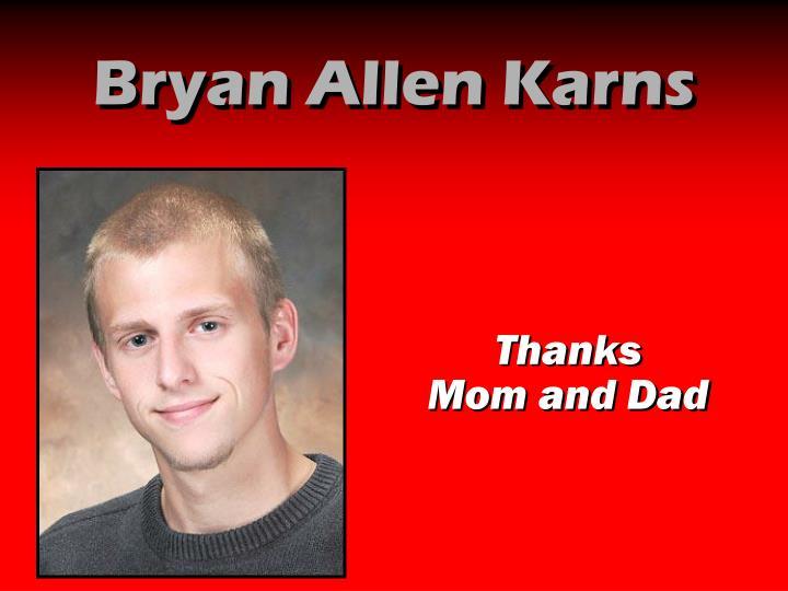 Bryan Allen Karns