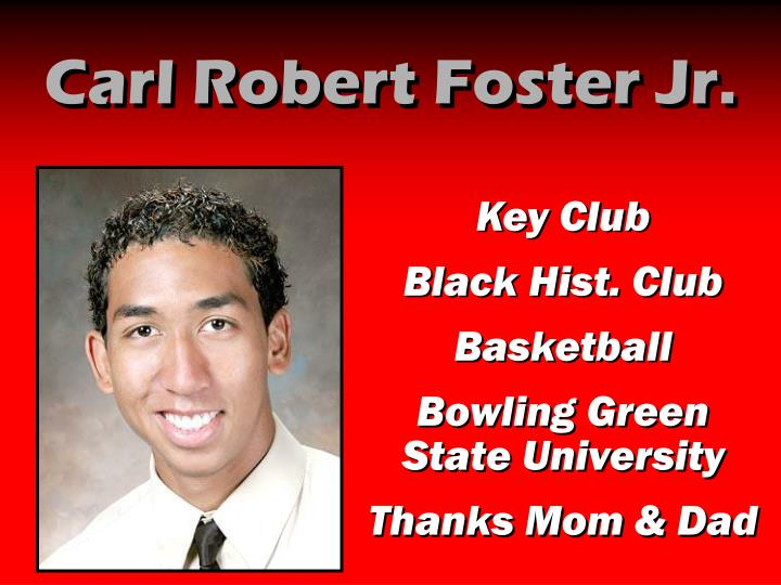 Carl Robert Foster Jr.