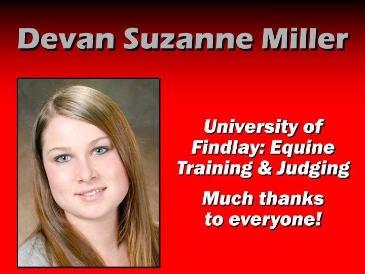 Devan Suzanne Miller