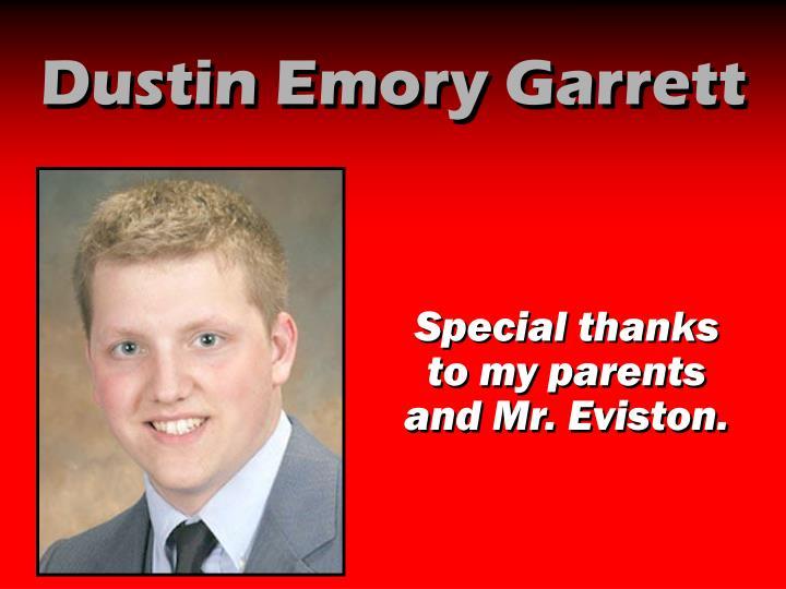 Dustin Emory Garrett